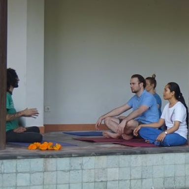 Just say Yes to Yoga. One of our on-site classes, held every other morning